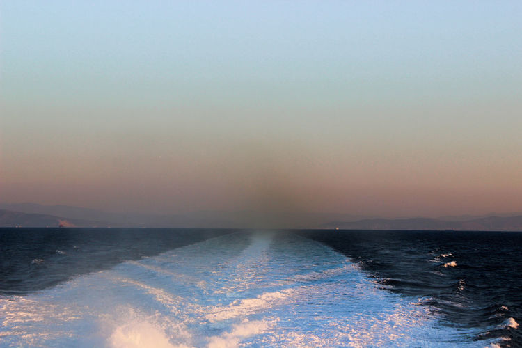 Everywhere that you go, just make sure that you leave the best trace! Beauty In Nature Colors In The Sky EyeEm Best Shots EyeEm Gallery EyeEm Nature Lover Horizon Over Water Nature Outdoors Sea Sea Waves Sky Sunrise Tranquil Scene Tranquility Water Waves Waves Behind A Ship