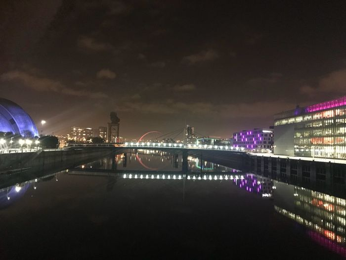 Night Architecture Built Structure Water Illuminated City Sky Cityscape Waterfront Nature Transportation Travel Destinations Outdoors Bridge - Man Made Structure Bridge Building Exterior No People Reflection River Connection