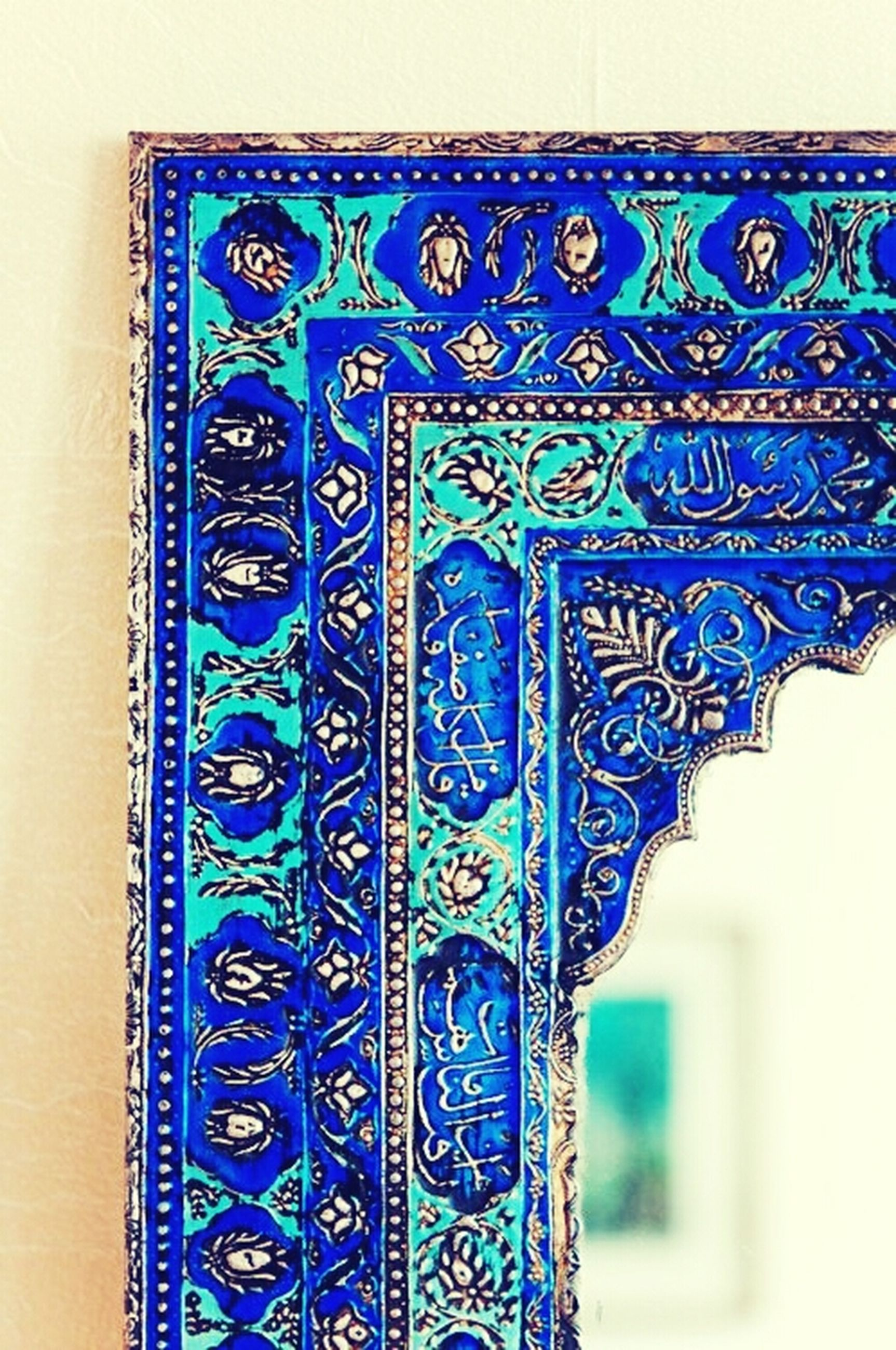 multi colored, design, pattern, indoors, art and craft, art, creativity, close-up, architecture, floral pattern, blue, built structure, ornate, wall - building feature, part of, decoration, textile, colorful, fabric, textured
