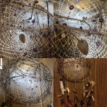 Tailored To You Dreamcatcher Vinewood Handmade By Me Native American Indian Culture And Tradition It is believed that your bad dreams are caught by the dream catcher & only good dreams can come through & upon morning light the bad dreams disappear.