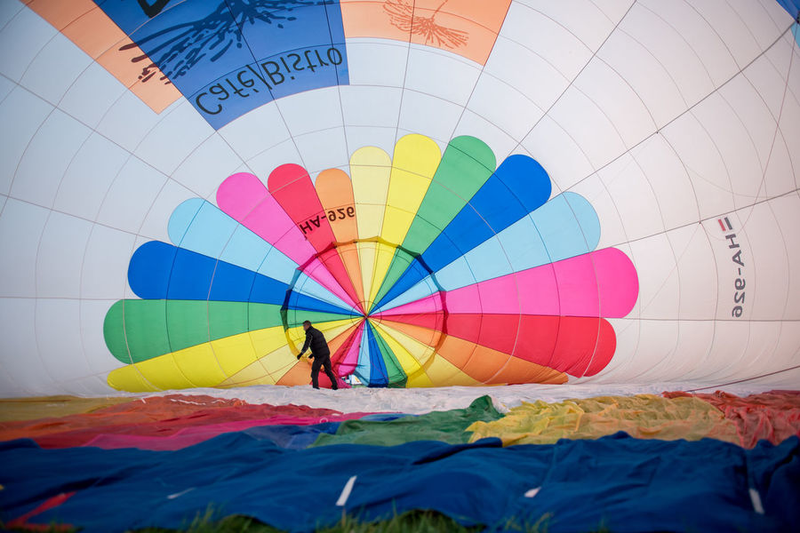 Hot Air Balloons Adventure Balloon Ballooning Festival Colorful Colors, Day Hot Air Balloon Indoors  Leisure Activity Lifestyles Multi Colored One Person People Real People