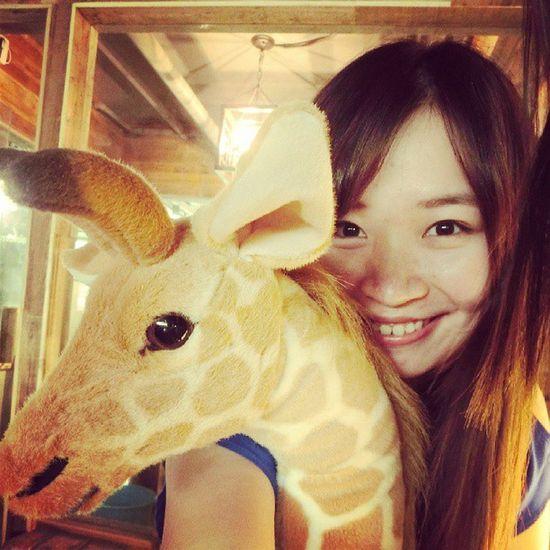 Zoocoffee Coffee Zoo Giraffe cute me instamood instame instaplace date friend Beijing love animal instaweather lovely