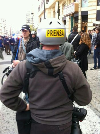 Freelance Life Press Photographer  Riots Police Helmet