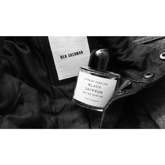 All set for winter with a warm coat and a new signature scent. Byredo
