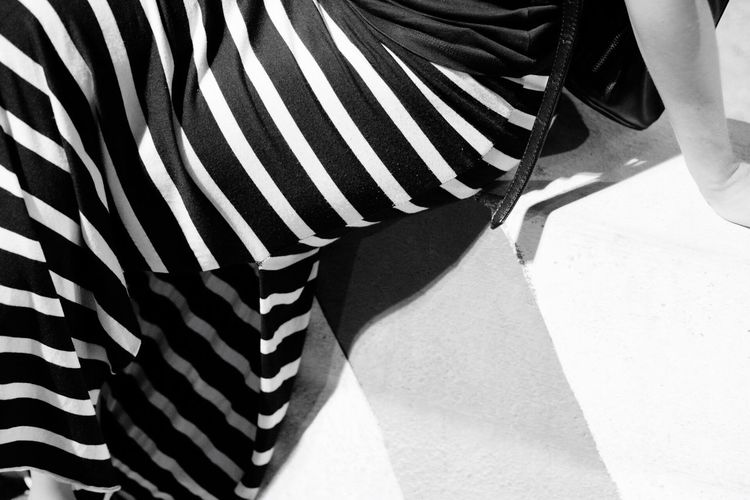 Sommergefühle Striped Low Section Human Leg One Person Real People Human Body Part Zebra Leisure Activity Pattern Day Standing Outdoors Close-up Mammal Adult Adults Only People
