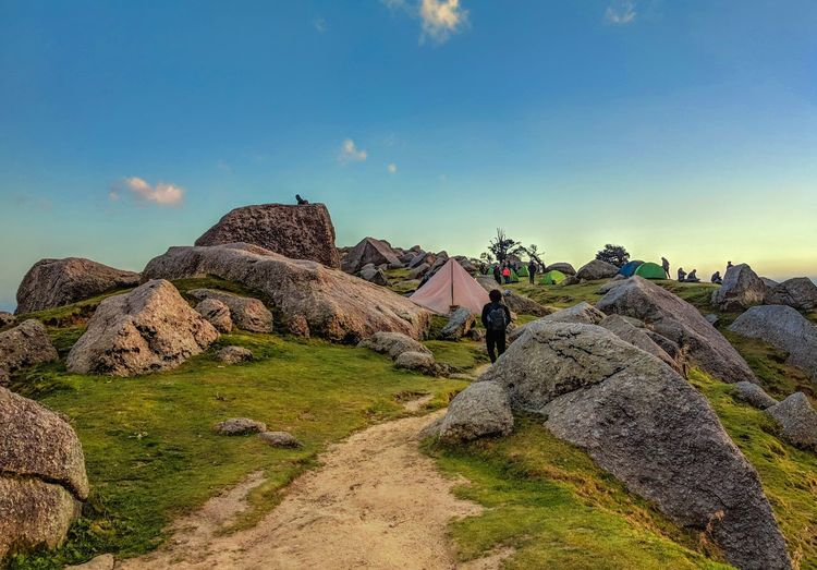 The Himalayas Mcleodganj Triund Tent Treking Clouds Sky Blue Mountain Nature Himalayas India Himachal Pradesh Ancient Civilization Pyramid Ancient Rock - Object History Sky Landscape Rocky Mountains Calm Hiker