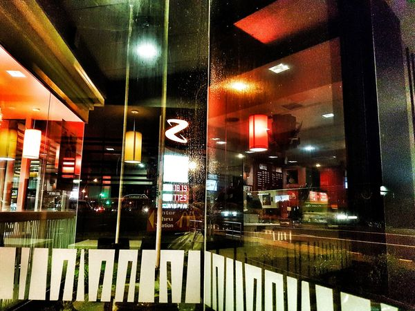 Waiting for the Auckland traffic to ease so I can go home. 2015 05 02 Hanging Out Window Night Nightphotography Reflection