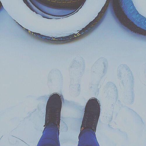 Snow ❄ Foot White Wheels Winter зима снег ноги