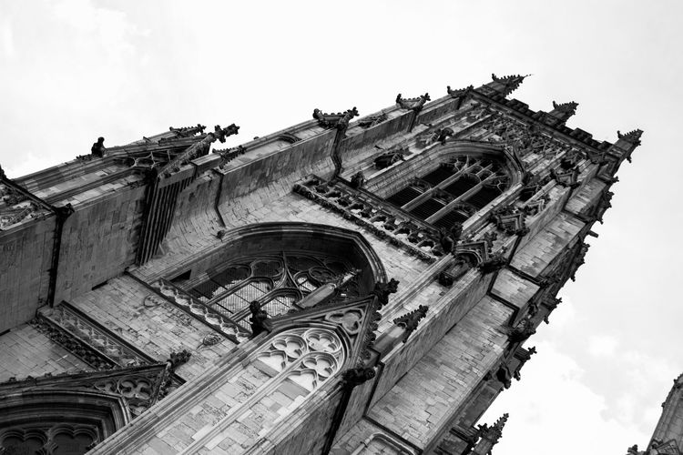 Low Angle View Architecture Built Structure History No People Building Exterior Day Outdoors York Minster