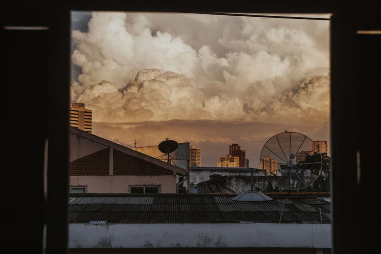 Dramatic thunderstorm with high cumulonimbus clouds over Belém, Brazil Architecture Sunset No People Outdoors Building City Sky Cloud - Sky Thunderstorm Dramatic Sky Brazil Clouds And Sky Cumulonimbus Cumulus Cloud Rain Storm Nature Environment Ecology Climate Climate Change Danger Scenics City Satellite Dish