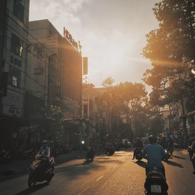 Sunset Streetphotography IPhoneography Saigon Vietnam Vietnamese