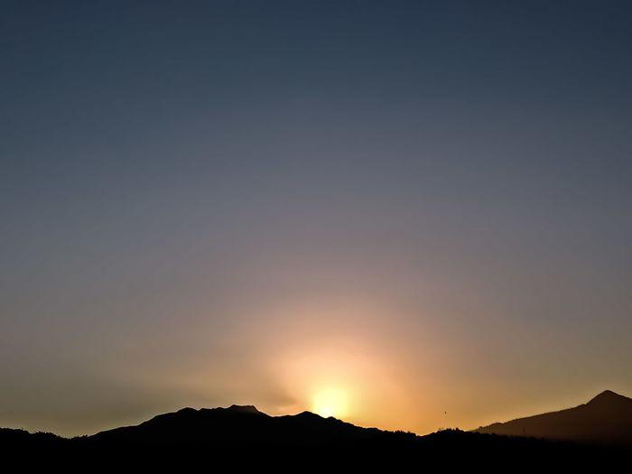 sunset behind