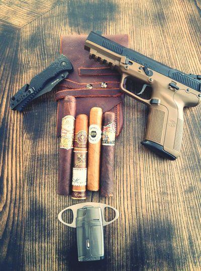 Guns Pistol Range Target Practice Cigars Cigarart Cigarphotography Cellphone Photography Concealcarry