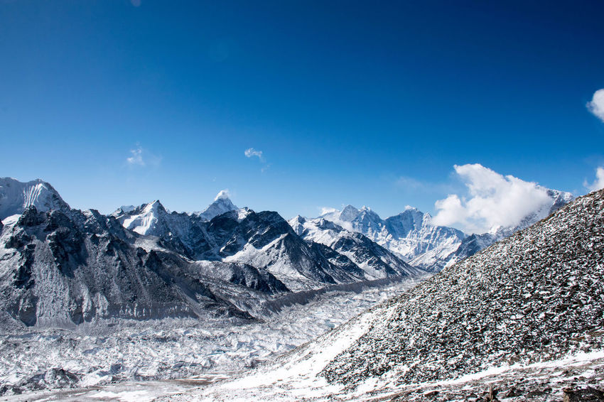 Trekking Nepal Lost In The Landscape Beauty In Nature Cold Temperature Landscape Mountain Mountain Range Nature Outdoors Snowcapped Mountain Tranquil Scene Be. Ready.
