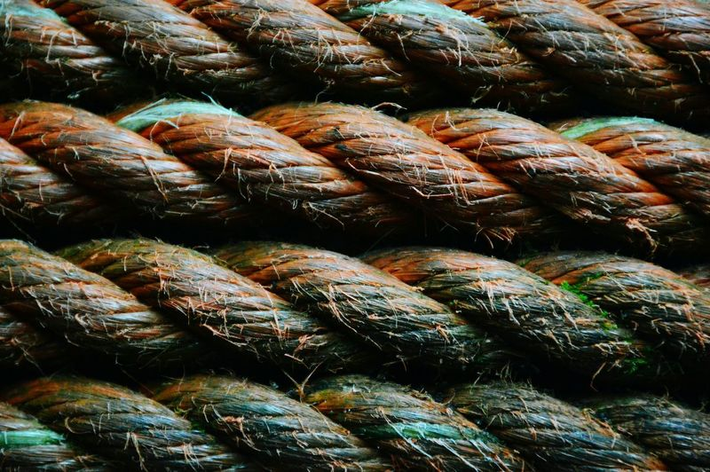 Full frame of rope