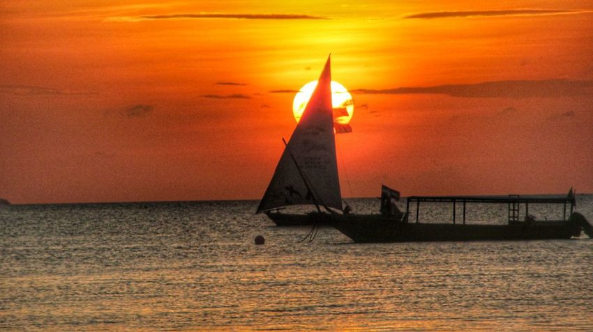 Zanzibar sunset no filters