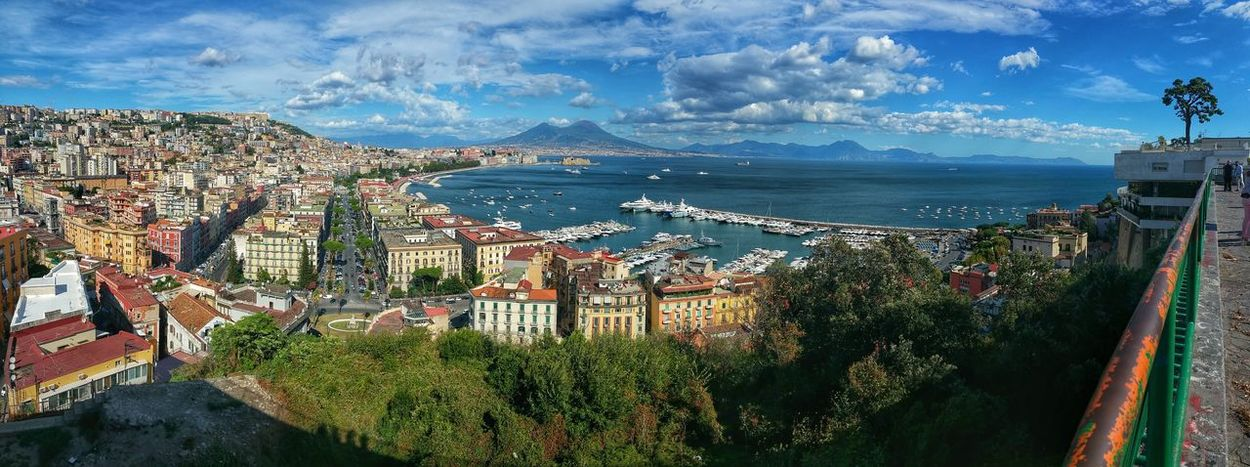 Napoli Sea Cityscape Travel Destinations Outdoors Sky No People Panoramic Naples Bay Italianlandscape Italia Italy santantonioaposillipo Golfo Di Napoli Vesuvio Da Napoli Vesuvio Vulcan Vulcano Campania