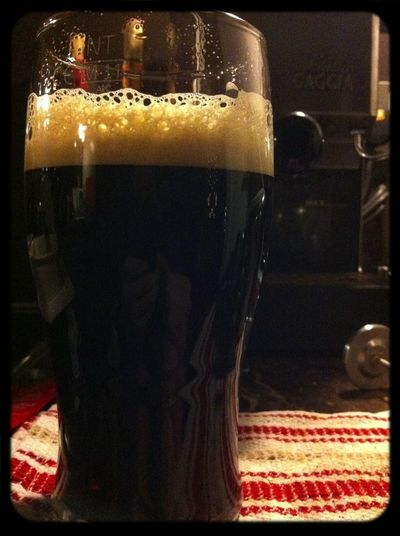 Now serving: End of the world coffee stout (homebrew)