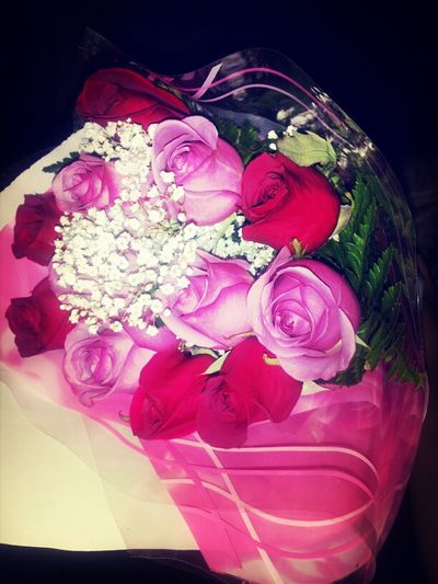 so Im laying down watching netflix and my man comes home with these <3