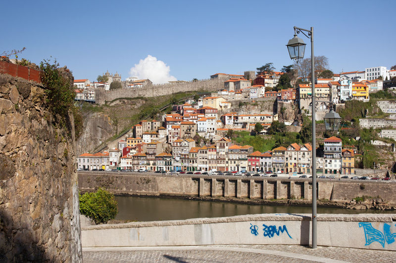 City of Porto cityscape in Portugal by the Douro River, view from Vila Nova de Gaia. Architecture Douro  Houses Old Town Oporto Porto Portugal Riverside Skyline Travel Vila Nova De Gaia Architecture Buiding Building Exterior Built Structure City Cityscape Europe No People River Town Travel Destinations Urban Urban Landscape Urban Skyline