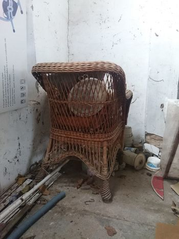 ...daily series 1 Abandoned & Derelict Cheer Close-up Day Derlict Indoors  No People Rattan Chair