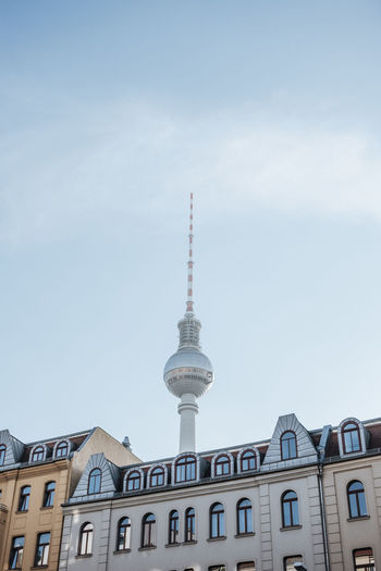 Berlin TV Tower Architecture Berliner Ansichten Building Exterior Built Structure City Communication Day Disco Ball Discokugel Low Angle View No People Outdoors Sky Tall - High Television Tower Tower Travel Destinations