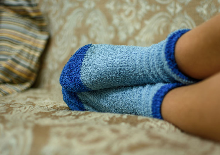 Always Be Cozy Blue Close-up Human Body Part Human Leg Indoors  Low Section One Person Real People Socks TK Maxx Socksie מייעמית TCPM
