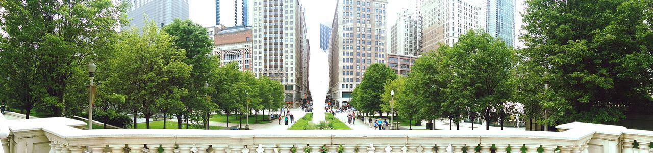 City Chicago Panarama Chicago Parks Into The City Illinois
