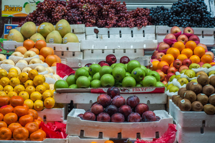 Fruit Stand Abundance Apple - Fruit Choice Citrus Fruit Day Food Food And Drink Freshness Fruit Granny Smith Apple Grape Grapefruit Healthy Eating Large Group Of Objects Lime Market Multi Colored No People Orange - Fruit Outdoors Pear Pomegranate Retail  Variation
