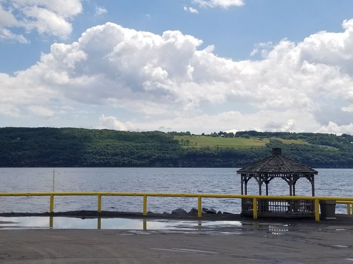 Finger Lakes Of Western New York. Lake Gazebo Industrial Landscapes First Eyeem Photo