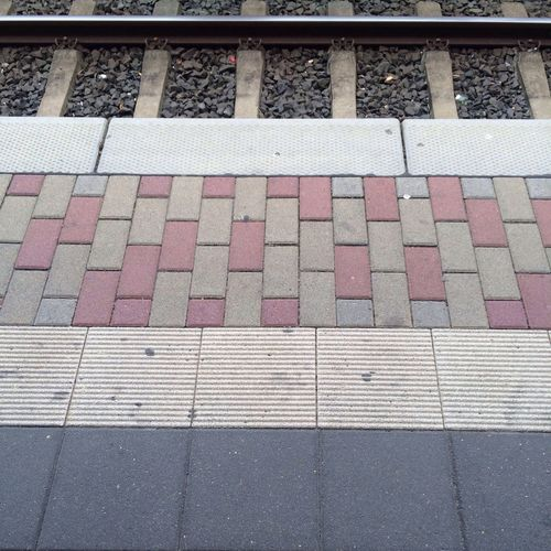 Symmetry Train Station Waiting Taking Photos Geometric Shapes Precision BCG My Daily Commute
