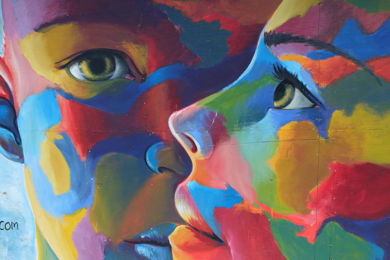 I look at you Art And Craft Close-up Creativity Day I Look At You Look At Me Multi Colored Naples No People Outdoors Paint Painted Image Street Art