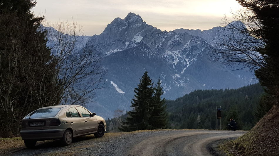 Car Mountain Transportation No People Road Tree Outdoors Mountain Range Nature Winter Snow Cold Temperature Beauty In Nature Travel Destinations Freshness Environment Landscape Slovenia Nature Eyeem Market Wilderness Area Curve Road Transportation The Week On EyeEm