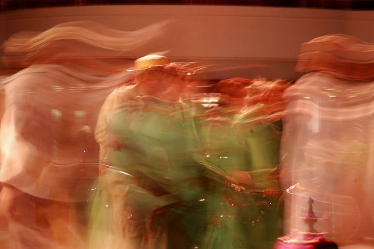 Celebration Dancing Derwish Dance Moving Blurred Motion Heat Of The Night Indoors  People Traditional