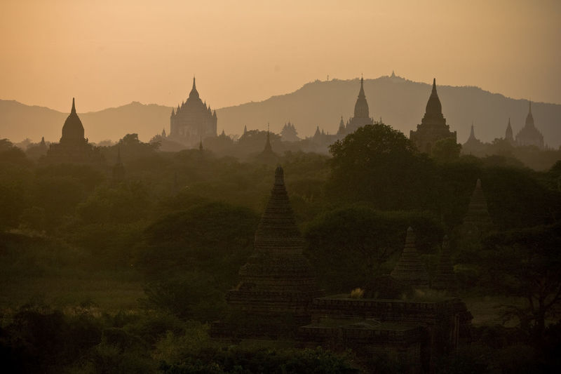the valley of Bagan in Myanmar @sunshine Ancient Architecture Bagan Built Structure Cultures Famous Place First Eyeem Photo Landscape Mountain Myanmar No People Outdoors Place Of Worship Religion Scenics Showcase June Sky Spirituality Stupa Sunset Temple - Building Tourism Tranquil Scene Tranquility Travel Destinations