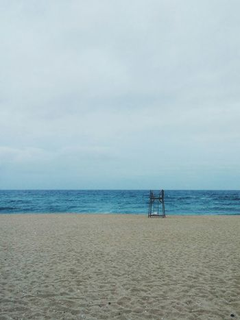 Empty beach of anmok during rainy day Beach