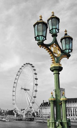 Architecture Black And White And Color Built Structure England🇬🇧 Ferris Wheel London London Eye LONDON❤ Outdoors Sky Travel Destinations United Kingdom Westminster Bridge EyeEm LOST IN London