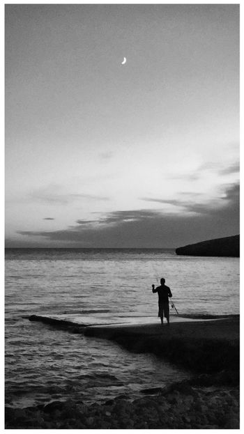 What Does Peace Look Like To You? Moon Black And White Black And White Photography Fortheloveofblackandwhite Summer Views Sardegna Sardinia Dawn Blackandwhite Photography