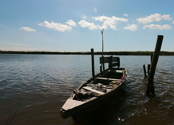 Water Nautical Vessel Outdoors Day Nature Local Comacchio Comacina Laguna