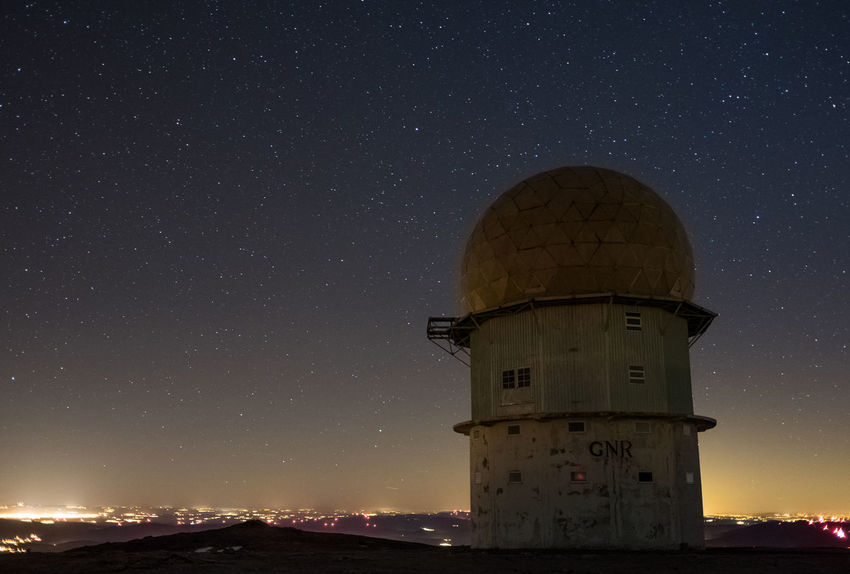 Serra da Estrela Galaxy Hiking Nature Architecture Astronomy Astronomy Telescope Building Exterior Built Structure Constellation Dome Explore Galaxy Illuminated Lighthouse Milkyway Moon Mountain Nature Night No People Outdoors Radar Sky Space Star - Space Stars Torre Tower