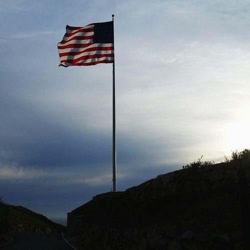 Trump golf course flag along the trail. Flag American Flag Trump Golf Course Will Never Go Back