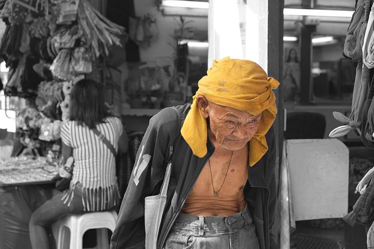 Paint The Town Yellow Senior Adult Senior Men Real People Lifestyles Two People Day Indoors  People Adult Adults Only