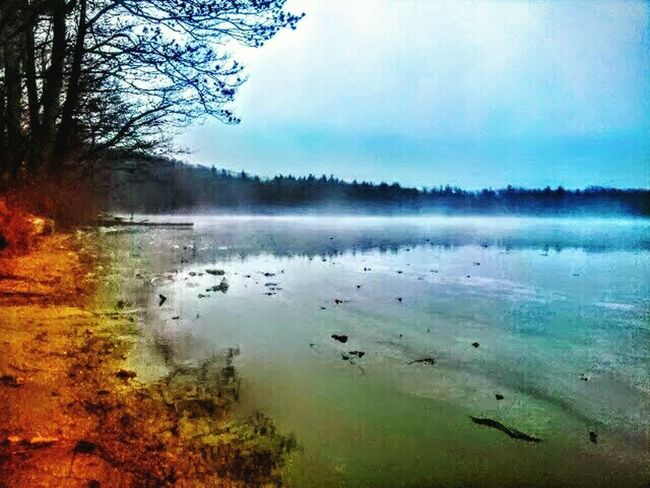 Surf's Up Alongtheseasore Lakeshore Nature On Your Doorstep Water_collection Eyemphotography Eyem Gallery Misty Day Mist Rising From Lake Misty Waters Lake Life Massachusetts Rutland Ma PrivateBeach Tadaa Community Tadaa Friendly Check This Out My Life ❤ EyeEm Nature Lover Eye4photography  Nature Photography