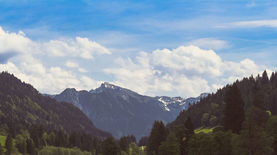 bavarian alpes panorama Alps Bavaria Bavarian Alps Beauty In Nature The Essence Of Summer Cloud - Sky Cloudy Day Forest Idyllic Landscape Majestic Mountain Mountain Range Nature No People Non-urban Scene Oberstdorf Oberstdorf & Umgebung Oberstdorf Allgäu Outdoors Landscapes With WhiteWall Sky Tranquil Scene Tranquility
