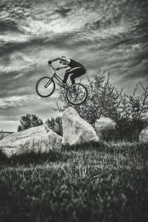 bike Extreme Sports Lanzhou 35mm Black & White Landscape