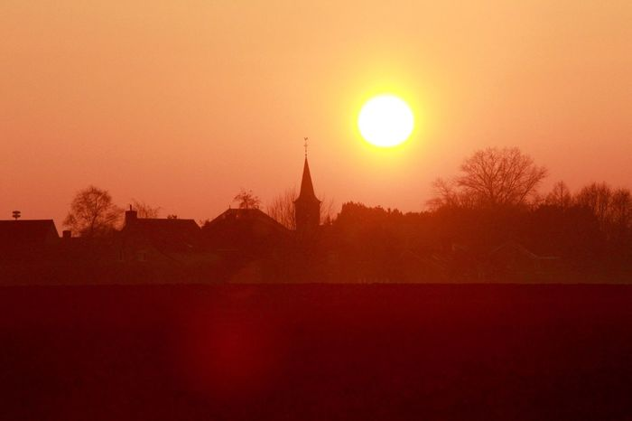 Sunset Built Structure Orange Color Sun No People Nature Silhouette Scenics Tranquil Scene