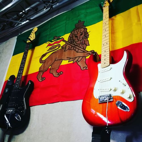 No People Indoors  Electric Guitar Musical Instrument Day Reggae♥ Roots Of Imagination Guitar Close-up In Studio Technology Music