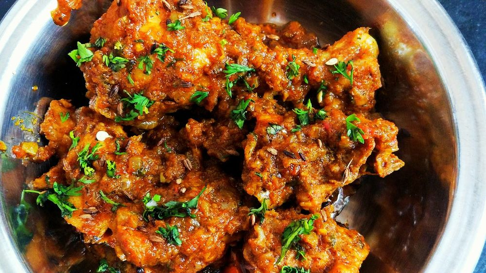 Chicken Masala Cooked By Me Spicy Food Love Indian Food Happy Sunday !