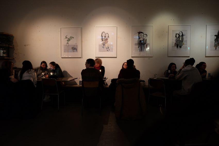 Swedish fika Swedish Fika Fikadags Group Of People Crowd Large Group Of People Real People Sitting Men Indoors  Women Table Togetherness Leisure Activity Restaurant