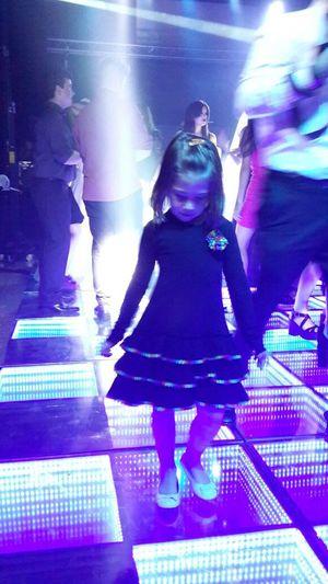 Soft Light My Daughter Elementary Age Little Girl Kid Kido Dancing Littlegirl Discoteque Dancing Little Girl Dance Lights Disco Lights